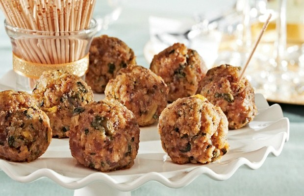 Mini Sausage Balls Recipe :: HoosierHomemade.com