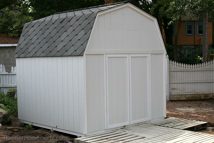 she shed the roof part 4 of the backyard makeover. Black Bedroom Furniture Sets. Home Design Ideas