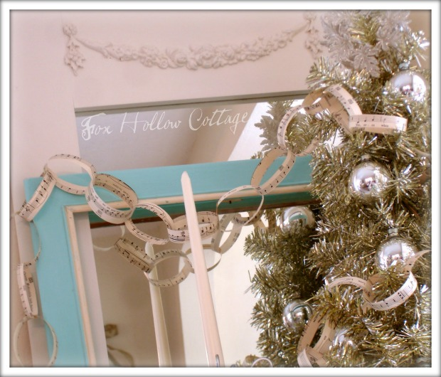 Vintage Sheet Music Garland : 100 Days of Homemade Holiday Inspiration on HoosierHomemade.com