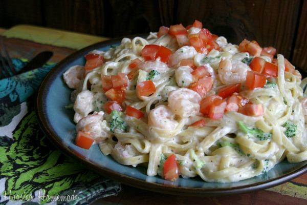 Shrimp & Broccoli Fettuccine Recipe