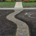How to Install a Stone Walkway | Instructions on HoosierHomemade.com