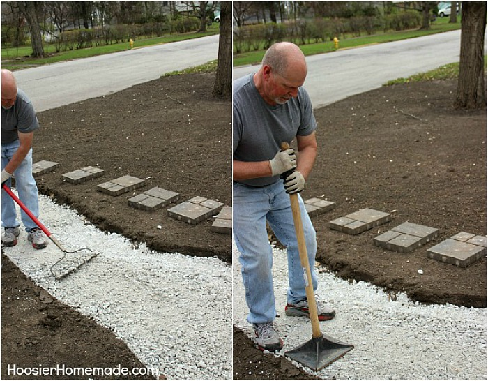 How to Install a Stone Walkway - Hoosier Homemade