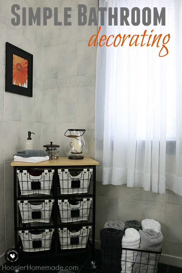 Creating a beautiful, inspiring bathroom doesn't need to be complicated or cost a lot of money. Learn how to decorate your bathroom - make it elegant, yet functional - and stay on budget!