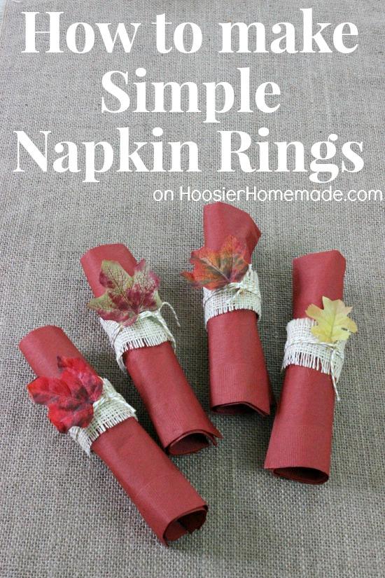 Simple DIY Napkin Rings | Instructions on HoosierHomemade.com