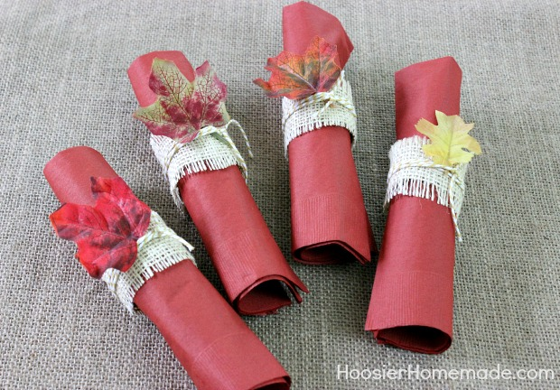 Simple DIY Napkin Rings And Thanksgiving Tablescape
