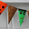 Simple Halloween Craft | Banner made with craft paper and Duck Tape | Instructions on HoosierHomemade.com