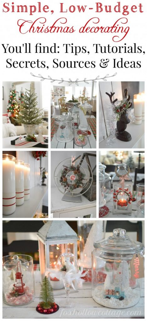 low cost christmas decorating