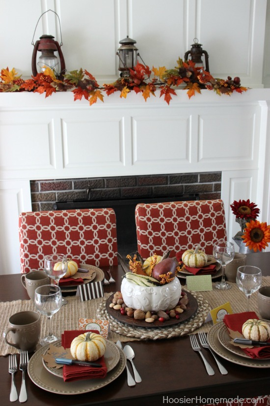 Simple thanksgiving table decoration hoosier homemade Thanksgiving table decorations homemade