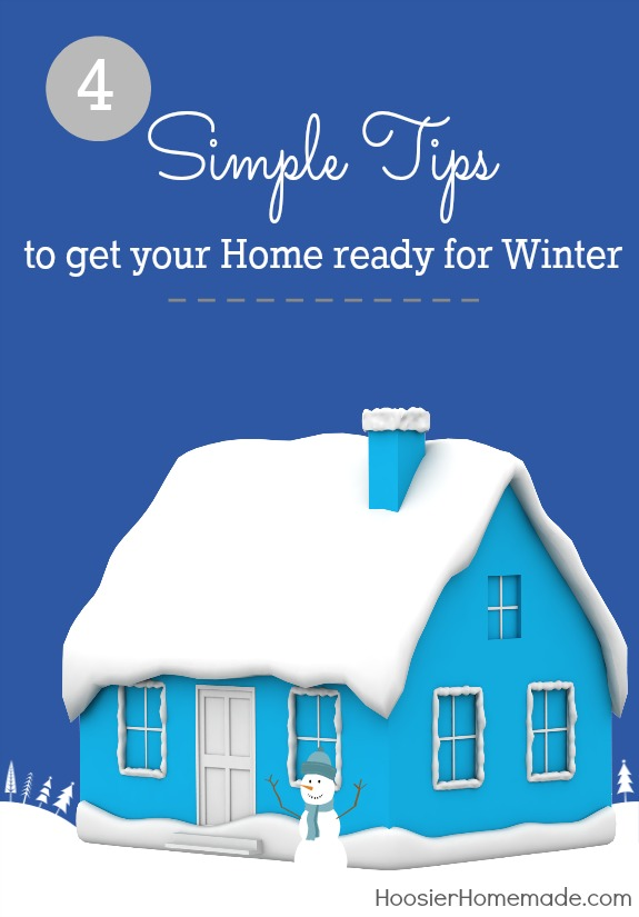 4 Simple Tips to get your home ready for Winter -- keep warm this Winter with these quick home improvements | Details on HoosierHomemade.com