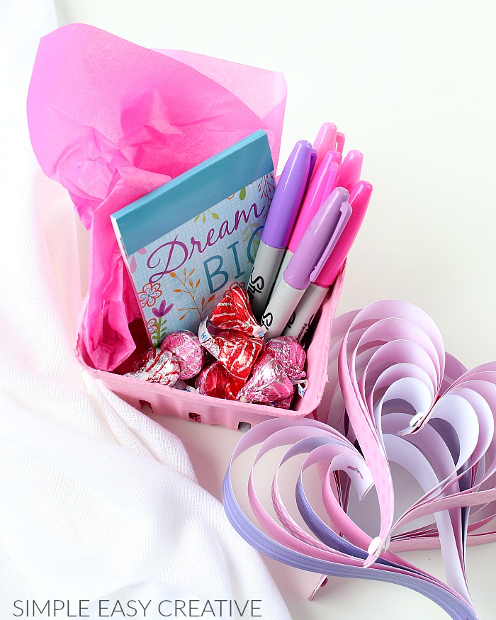 Gift Basket with Note Book and Pens