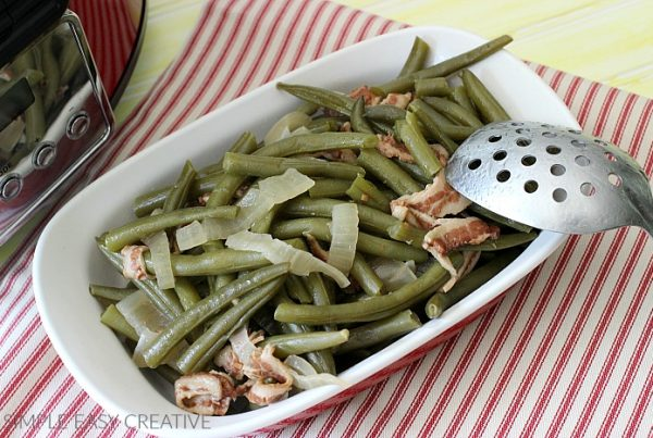 Bowl of Slow Cooker Green Beans
