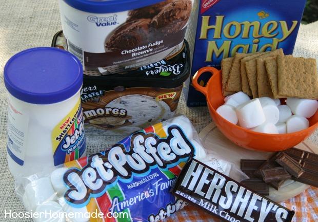 S'mores Ice Cream Pie | Recipe on HoosierHomemade.com