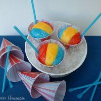 Snow Cone Cupcakes: Tutti-Frutti Flavored