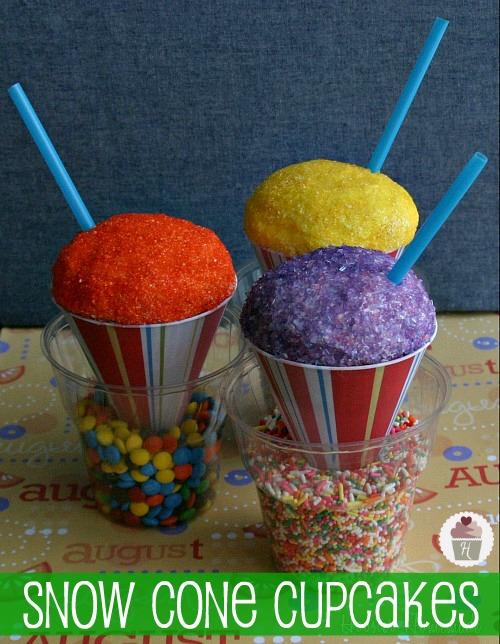 Snow Cone Cupcakes :: HoosierHomemade.com
