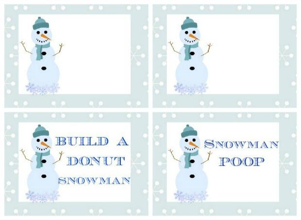 Snowman Breakfast.Printables.HH