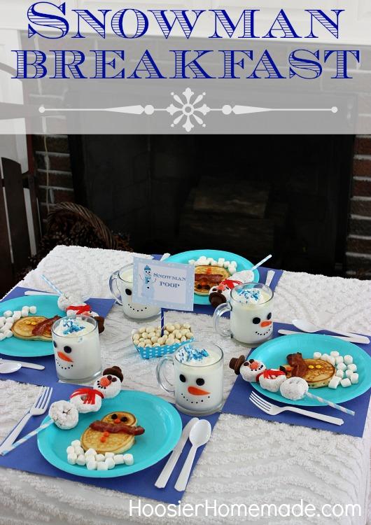 Snowman Breakfast for the Kids :: HoosierHomemade.com