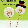 The kids will love these Snowmen Cookie Pops! Cookies meet Pops, for the perfect Christmas cookie! Pin it to your Christmas Board!