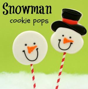 Snowman Cookie Pops :: HoosierHomemade.com