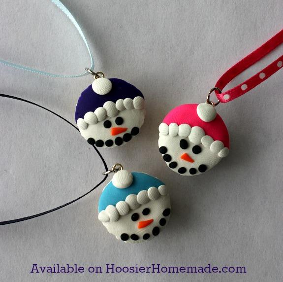 Snowmen Cupcake Charms
