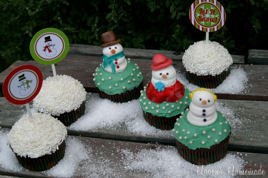 Christmas Toppers For Cupcakes.Christmas Cupcake Toppers Hoosier Homemade