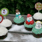 Snowman Cupcakes & Toppers