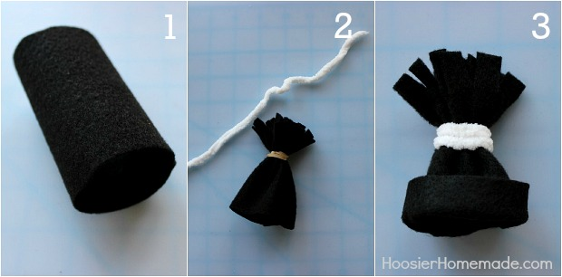 Easy winter crafts hoosier homemade for Tiny top hats for crafts