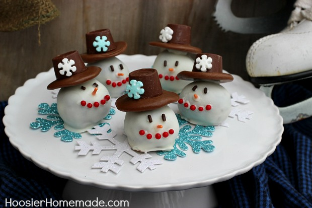Snowman OREO Cookie Balls Hoosier Homemade Inspiration How To Decorate Oreo Balls