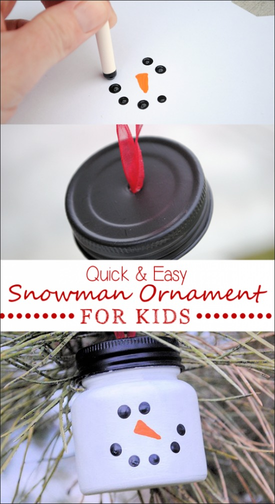 Snowman Ornament   100 Days of Homemade Holiday Inspiration on HoosierHomemade.com
