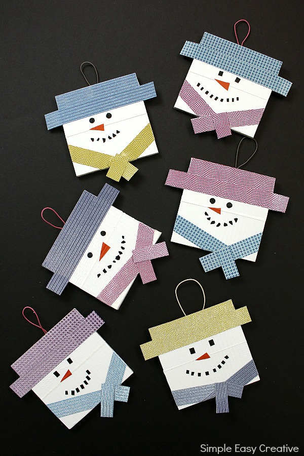 Snowman Ornaments DIY