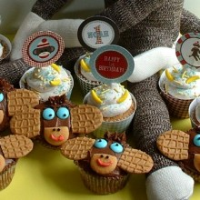 Sock Monkey Cupcakes.featured