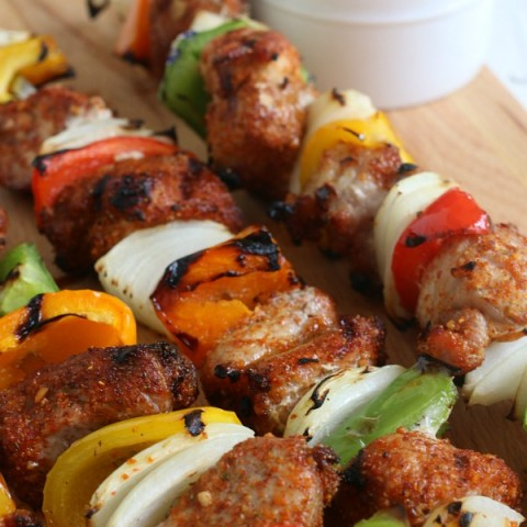 Add a little kick to your grill! These Southwestern Pork Kabobs are full of flavor, easy enough for a weeknight meal but special enough to serve at a party!