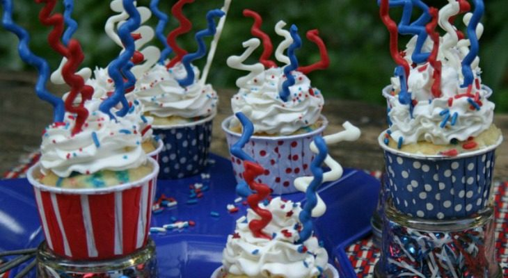 Sparkler Cupcakes for 4th of July