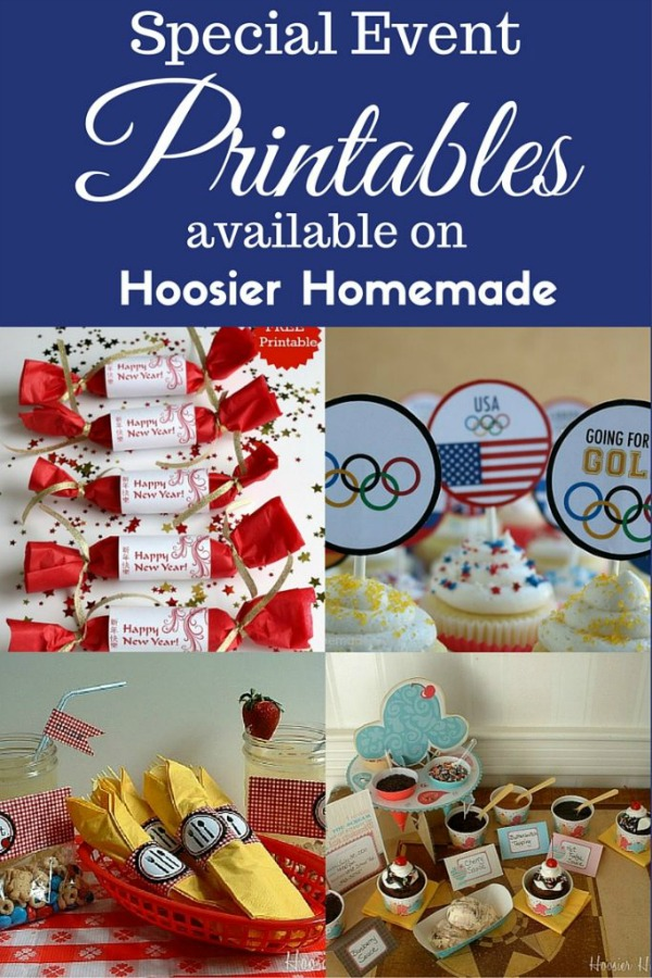 FREE PRINTABLES -- Grab your FREE Printable Olympic Cupcake Toppers, Chinese New Year, Picnic, Ice Cream Party and MORE!