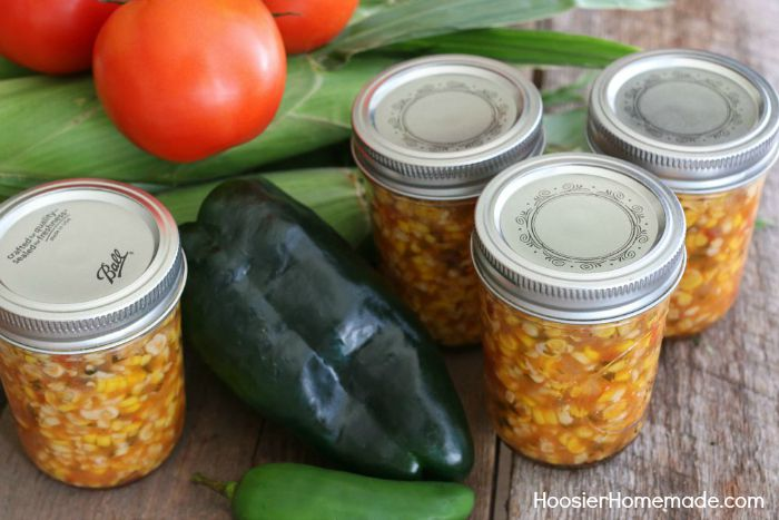 Canned Spicy Corn Salsa