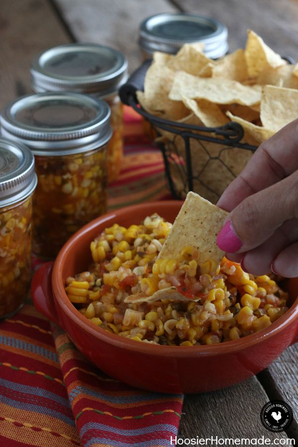 Grab the Chips! It's time to make this delicious Spicy Corn Salsa! Add a little heat or a lot - just the right amount! Grab the recipe and learn how to preserve your own food using the canning process!