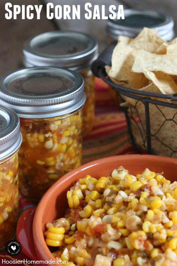 Grab the Chips! It's time to make this delicious Spicy Corn Salsa! Add ...