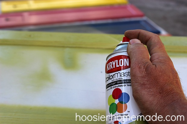 Spraying away with Krylon's newest product on hoosierhomemade.com