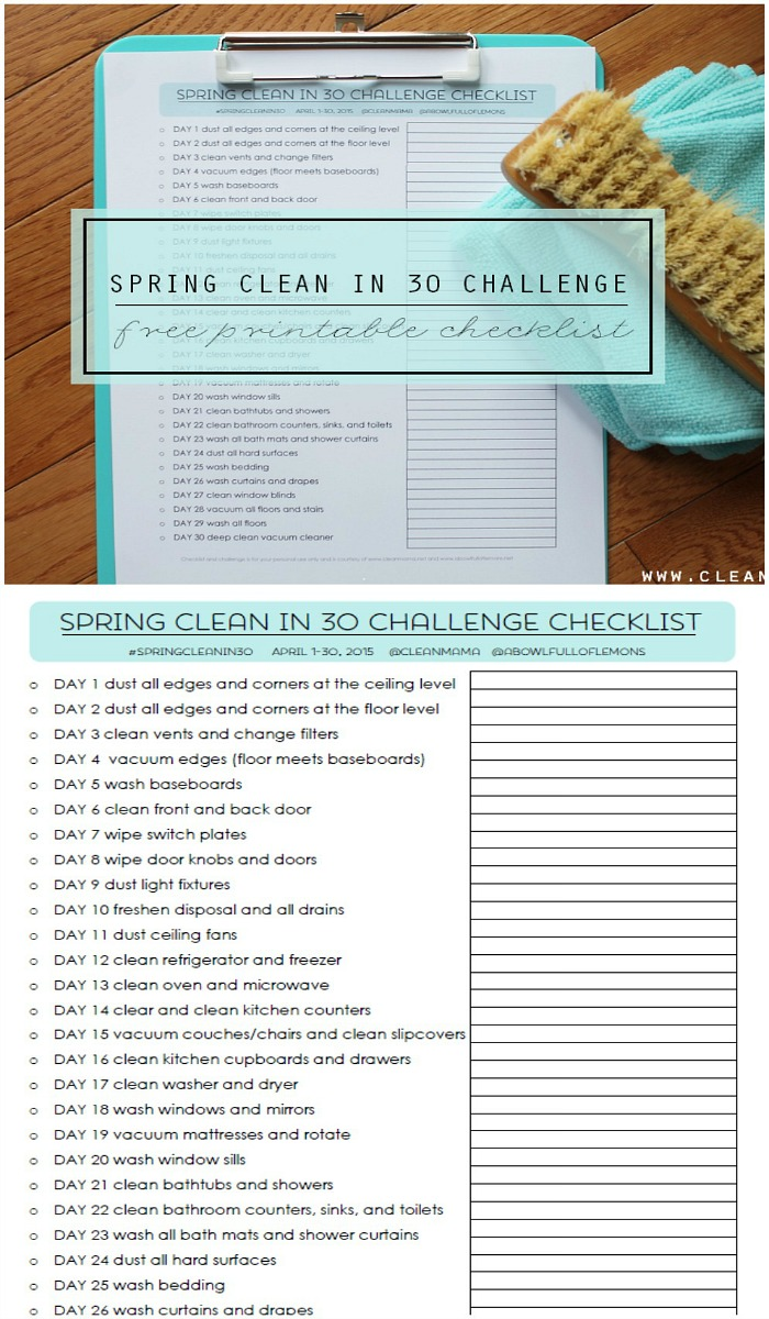 Keep yourself organized and get more done in less time with this Spring Cleaning Schedule from Clean Mama! Be sure to save it by pinning to your Home Board!