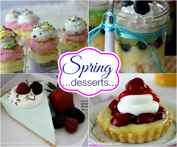 Spring Dessert Recipes on HoosierHomemade.com