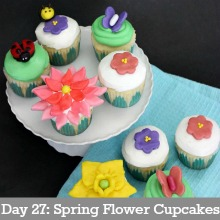 Spring Flower Cupcakes.Day27