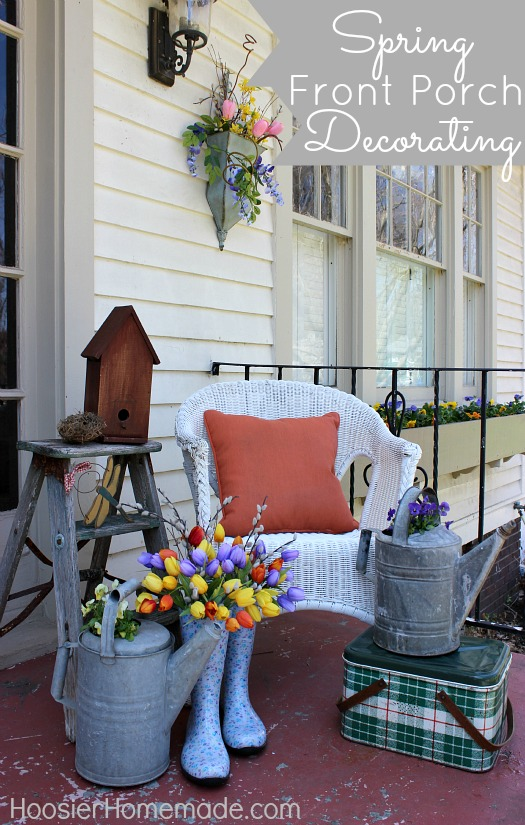 Spring Front Porch Decorating Hoosier Homemade