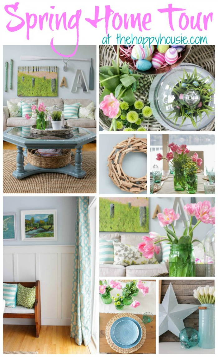 Freshen up your home with these beautiful Spring Decorating Ideas! Pops of blue and green give your home a new life this Spring! Be sure to save these ideas by pinning them to your Decorating Board!