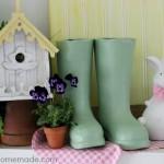 Spring Mantel Decorating | on HoosierHomemade.com
