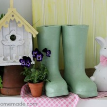 Spring Mantel Decorating | on HoosierHomemade.com