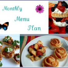 Spring Monthly Menu Plan