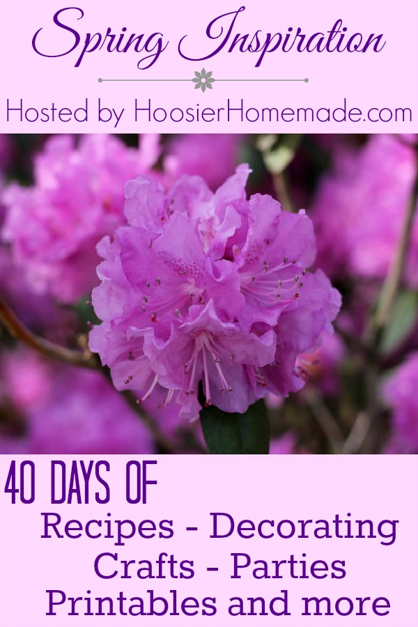 Join us for 40 days of Spring Inspiration! Recipes, Decorating, Crafts, Parties, Printables and more! Pin to your Spring Board!