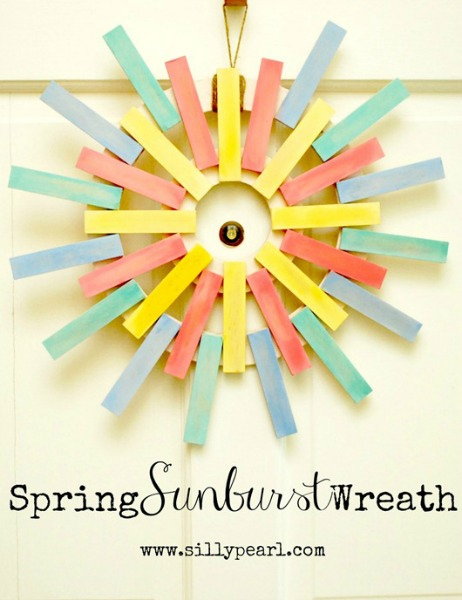 Spring Sunburst Wreath