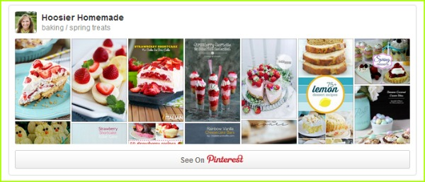 Spring Treats Pinterest Board