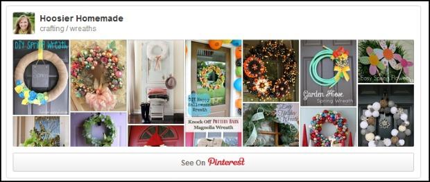 Spring  Wreath Pinterest Board