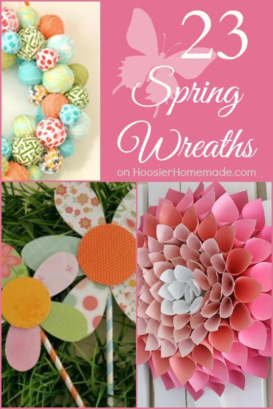23 Spring Wreaths | on HoosierHomemade.com